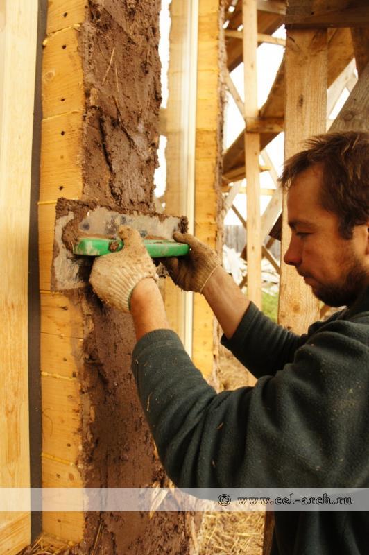 Как выровнять стены в саманном доме своими руками 97