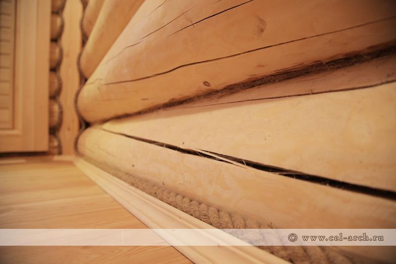 Плинтус и джутовая веревка (фото 2)